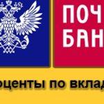 Проценты по вкладам у Почта Банка