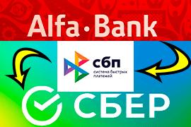 Перевод из Альфа-Банка в Сбербанк через СБП